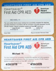 AHA – First Aid / CPR / AED Re-Certification