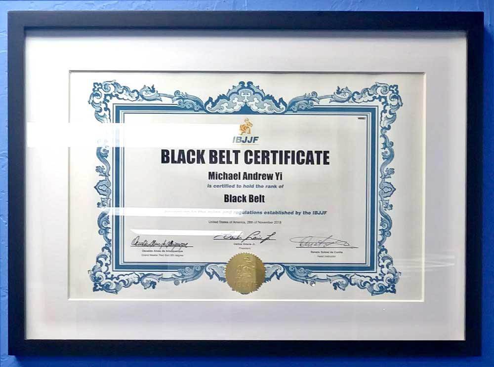 IBJJF / USBJJF BJJ Black Belt Certified