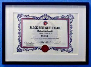 USBJJF Black Belt Certificate